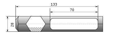 HM1800 Meißel E013 passend für Makita HM1500B HM1810 HM1303