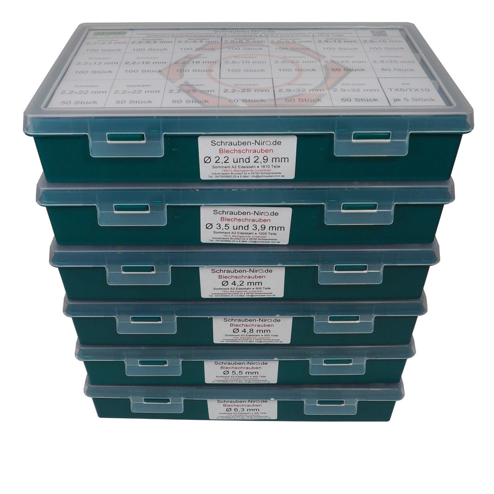 10 Stück Blechschrauben DIN 7981 Linsenkopf A2 4,2X70
